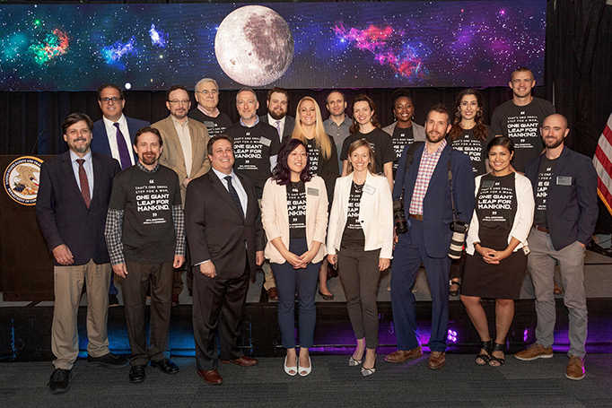 "USPTO staff at ""Apollo 50: The role of intellectual property in space commerce"" event on July 23, 2019"