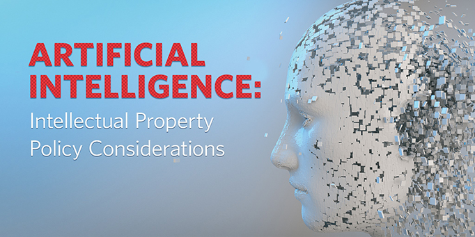 "Image showing the text ""Artificial intelligence: intellectual property policy considerations"""