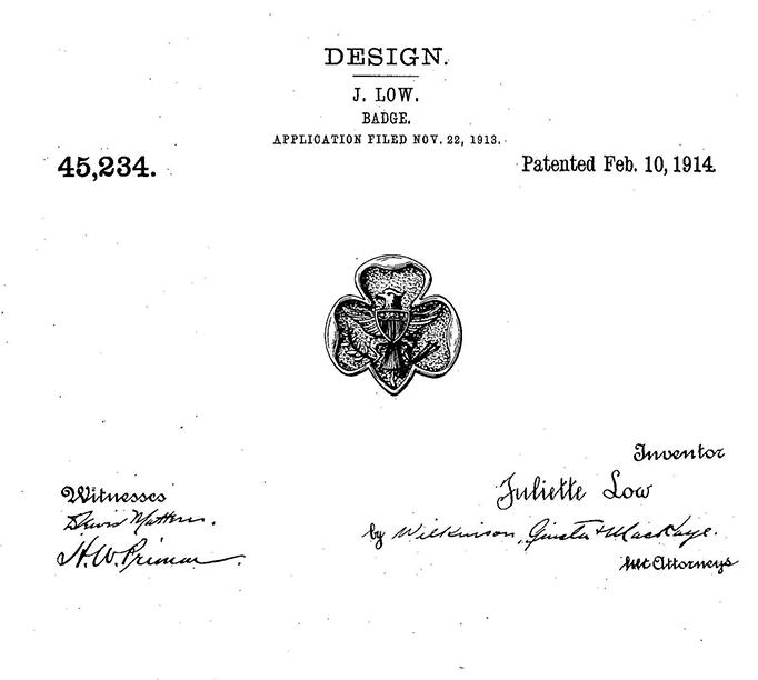 Juliette Gordon Low patent