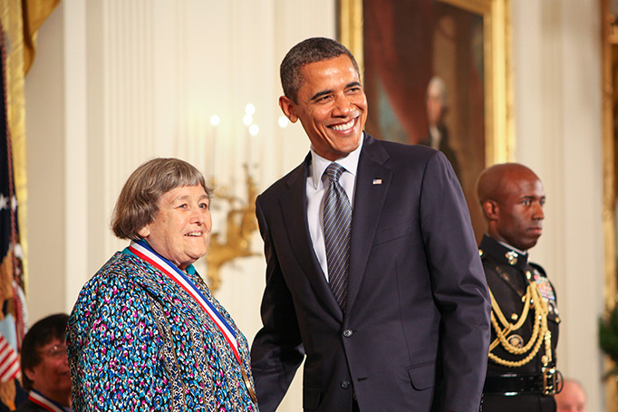 Yvonne Brill receives NMTI from President Barack Obama