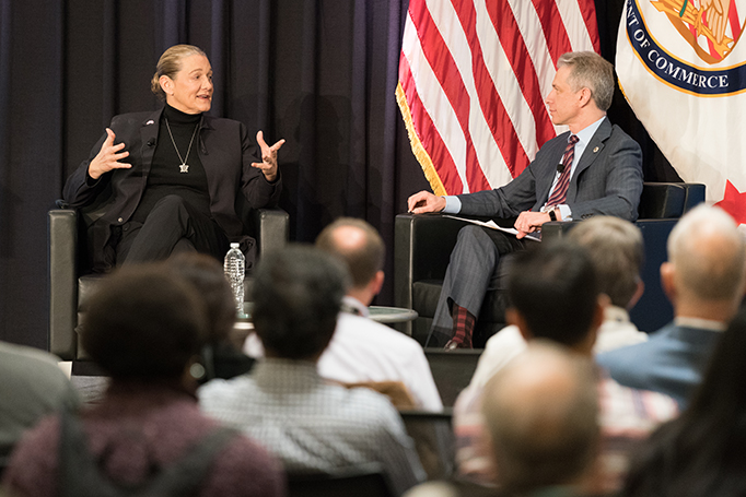 Director Iancu interviews Dr. Martine Rothblatt in December 2019