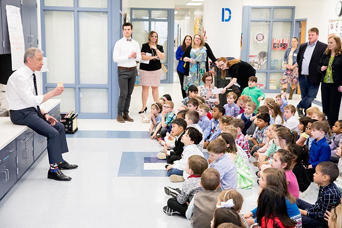 Director Iancu visits Terra Centre Elementary in Burke, VA in 2019