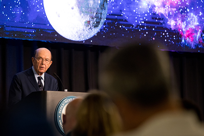 Secretary of Commerce Wilbur Ross discusses administration goals on space commerce.