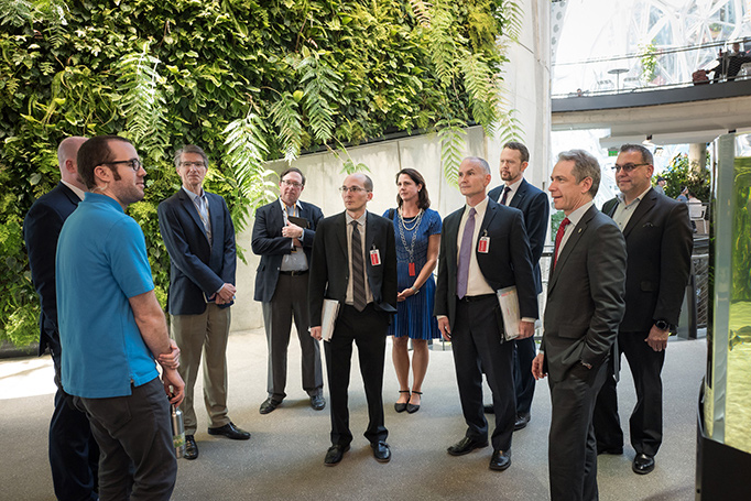 Following a tour of Amazon HQ with USPTO Director Andrei Iancu, the IP Attachés met with Amazon's IP team to discuss concerns with counterfeiting and piracy around the world.