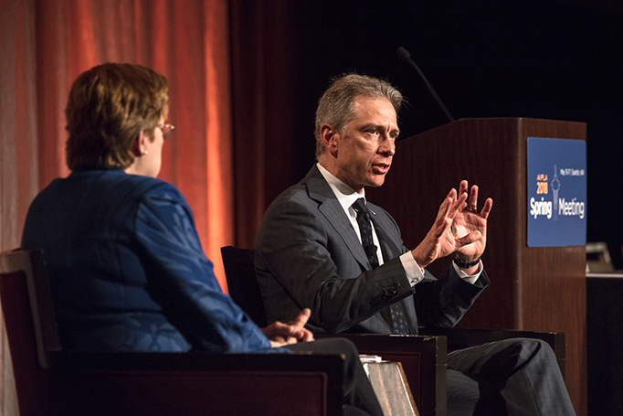USPTO Director Andrei Iancu joins AIPLA Executive Director Lisa Jorgenson to talk IP and the U.S. patent system at AIPLA's 2018 Spring Meeting in Seattle, Washington.