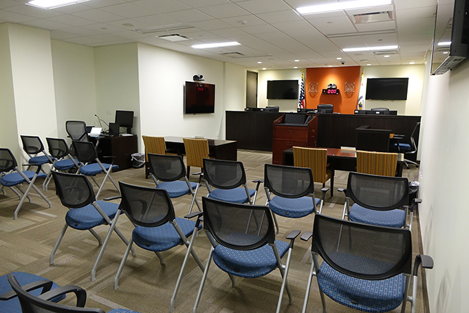 Updated hearing room in the Rocky Mountain Regional Office