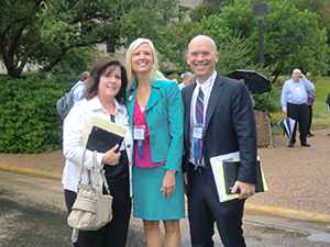 Elizabeth Dougherty, USPTO, Betsy Merrick, UTA, and Dan Sharp, UTA at the Austin Independent Inventors Conference.