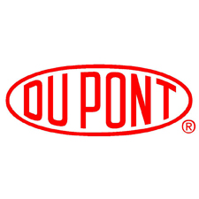 DuPont in red font inside oval