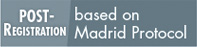 Post-Registration based on Madrid Protocol button