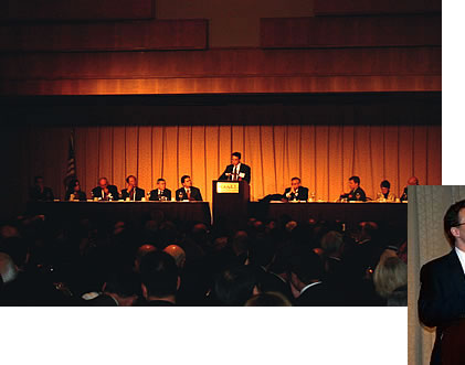 Photo showing Under Secretary Dudas addressing the American Intellectual Property Law Association.