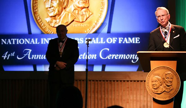 National Inventors Hall of Fame ceremony inductees speak