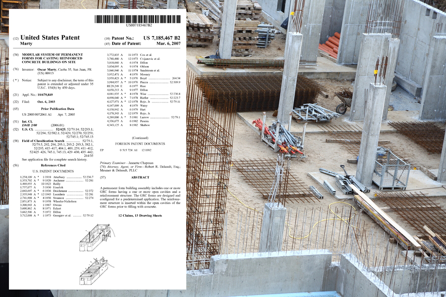 Modular forms for casting reinforced concrete buildings