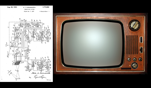 US Patent No. 1,773,980 granted to Philo T. Farnsworth August 26, 1930 for a television system