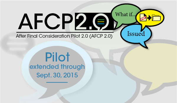 "speech ""bubbles"" citing the AFCP 2.0 pilot program extension"
