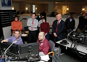 Photo showing team members from the OCIO holding an online chat about USPTO IT systems in Alexandria, Virginia, February 8, 2011.