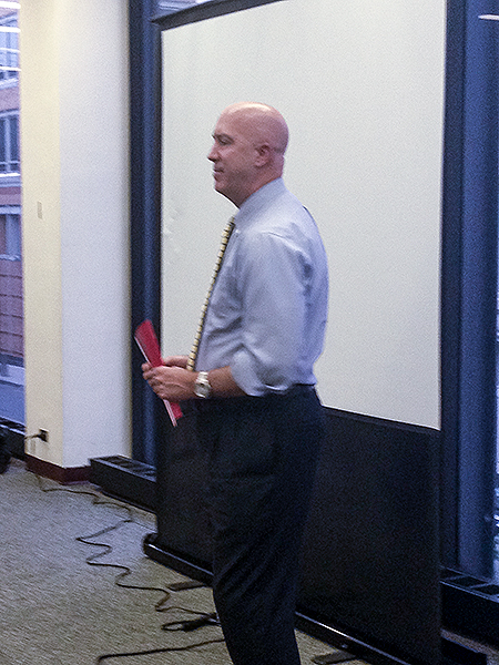 Photo of instructor Craig Morris on a lecture