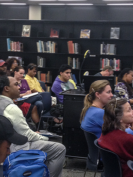 Photo of audience at a library lecture