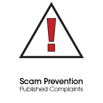 Scam Prevention, Published Complaints