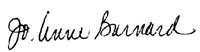 Signature of Jo-Anne Barnard