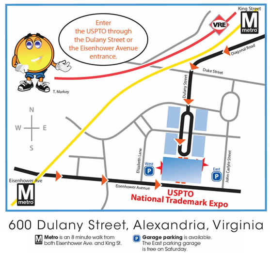 Map of trademark expo