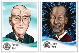 Forrest Bird & James West trading cards
