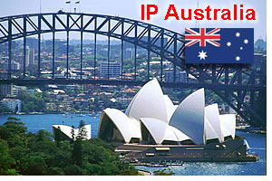 IP Australia  - flag and Sidney Australia photo