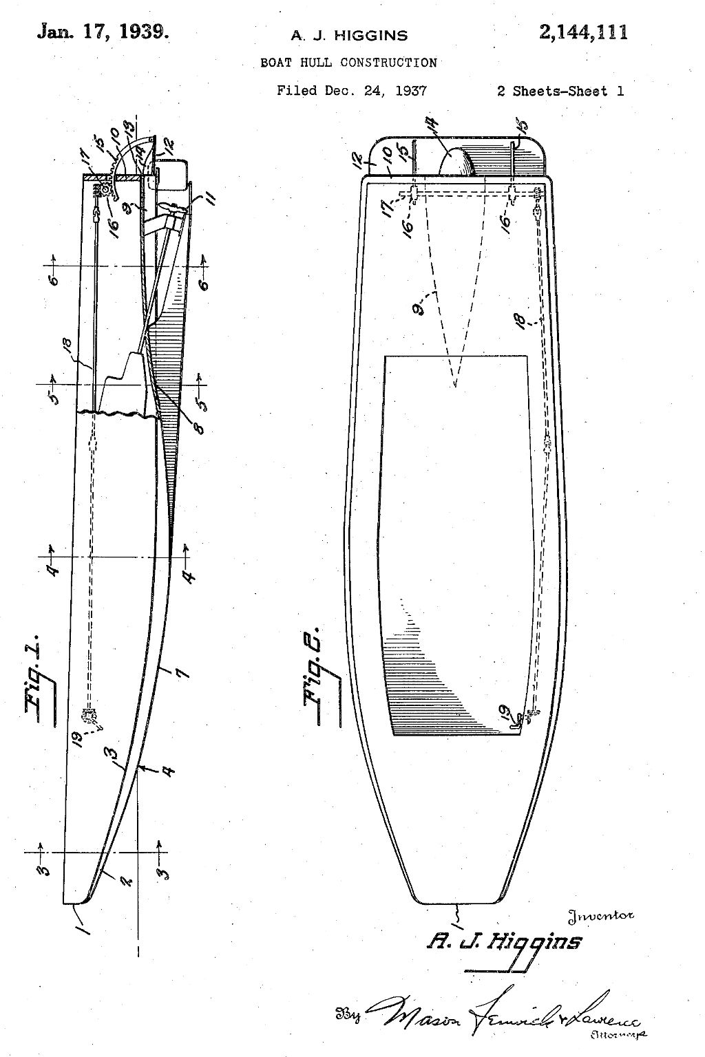 "mage: The patent for Higgins Industries ""Eureka"" boat."