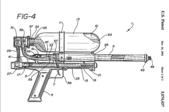 Image: After the toy's debut, the toy's mechanism would be further improved, based on a 1992 patent that used air pressure instead of water pressure.