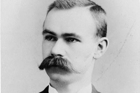Portrait of Herman Hollerith in black and white