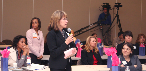 Woman speaking at the Women's Entreprenuership Symposium