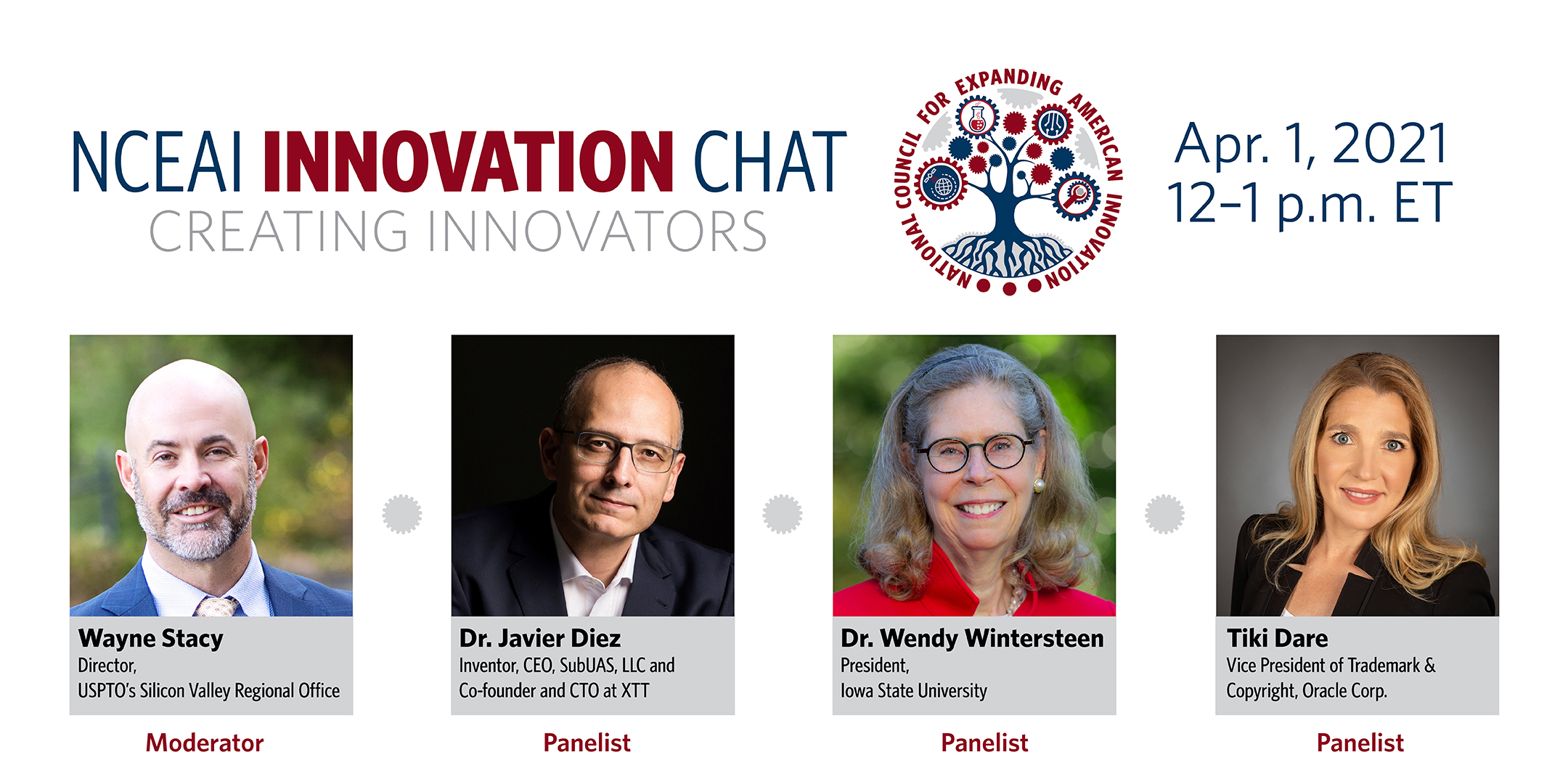 NCEAI Innovation Chat -- April 1, 12:00 p.m. ET