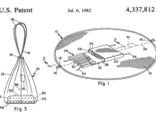 patent images of pinic bag and tablecloth combined together