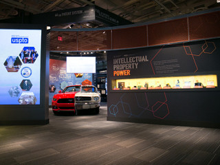 Ford Mustang exhibit in the National Inventors Hall of Fame