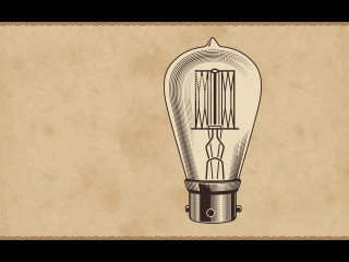 Vintage lightbulb drawing