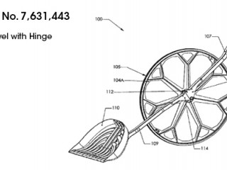 US Patent number 7,631,443 of the Wheeled Shovel with hinge apparatus
