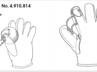 US Patent number 4,910,814 of the Fielder's glove
