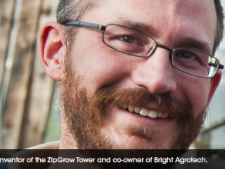Dr. Nate Storey, inventor of the ZipGrow Tower and co-owner of Bright Agrotech