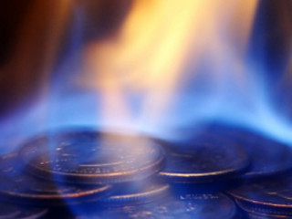 Coins on fire
