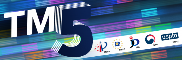TM5 logo with five IP office logos for CNIPA, EUIPO, JPO, KIPO, and USPTO
