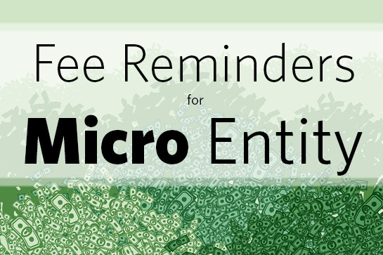 Fee reminders for micro entity
