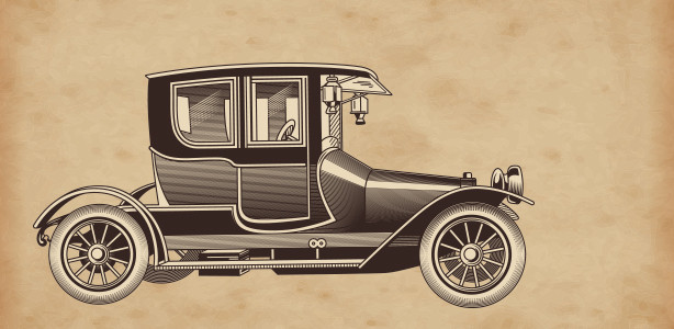 Vintage Automobile drawing