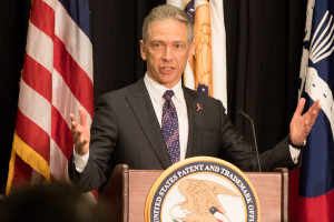 Andrei Iancu, Under Secretary of Commerce for Intellectual Property and Director of the United States Patent and Trademark Office (USPTO) speaks at the 25th annual Partnering in Patents event hosted by the USPTO in collaboration with the American Intellectual Property Law Association (AIPLA).