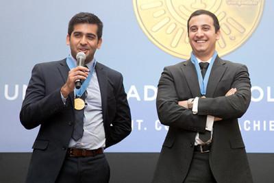 Undergraduate winners Ameer Shakeel and Payam Pourtaheri of UVA