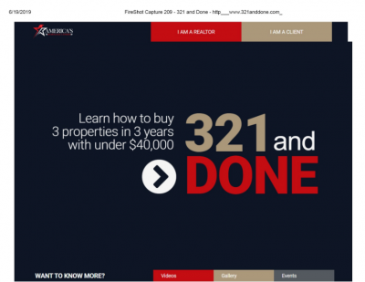 "specimen example: screen grab from website with text ""321 and done"""