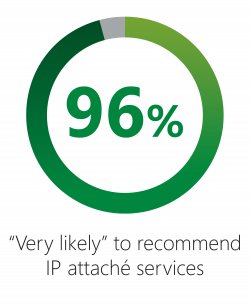 IP attaché survey 96% Chart