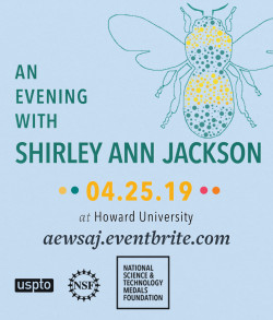 Event flyer for An Evening With Shirley Ann Jackson