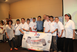 First Lego League Global Innovation Award Runner's up, Team Seven World Wonders