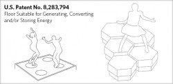 US Patent Number 8283794 of a Floor Suitable for Generating, Converting and/or Storing Energy