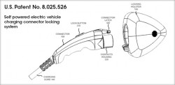 US Patent number 8,025,526 of the Self Powered electric vehicle charging connector locking system