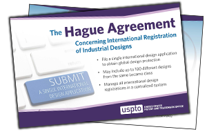 Hague agreement postcard